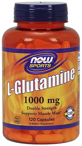 NOW L-Glutamine 1,000 mg, 120 Capsules