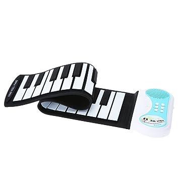 ammoon 37 Teclas de teclado de piano Silicon herramienta el aprendizaje portátil goma fessibile Roll-up para I Niños Niños Estudiantes: Amazon.es: ...
