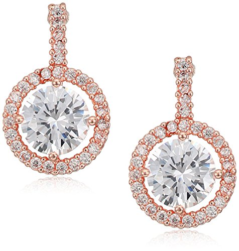 Anne Klein Rose Gold Tone Single Drop Earrings - Anne Klein Single