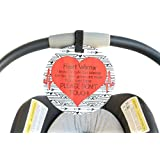 Heart Warrior No Touching Car Seat Sign