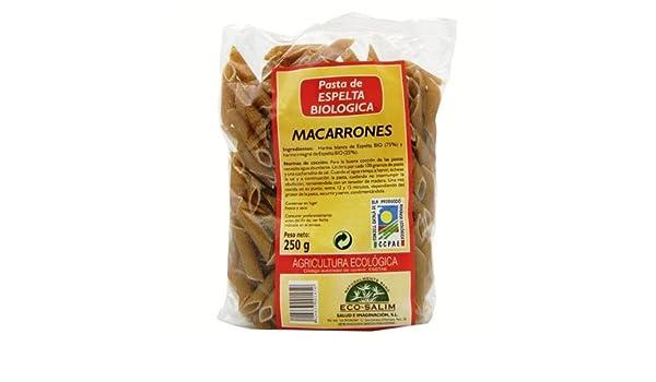 macarrones espelta semi eco int-salim 250 gr: Amazon.es: Salud y cuidado personal
