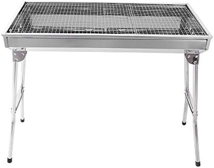 Folding BBQ Barbecue Grill Stove Stainless Steel Charcoal Kabob Camping Outdoor