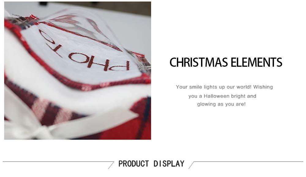 yacn Famiglia Decorazione della Parete dellalbero 2 Calze Pz Natale Busta Regalo Creativo Cane Claws Decorazioni di Natale