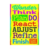 ARGUS Wonder Think Plan Do React Poster (1 Piece), 13.38
