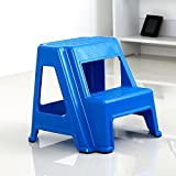 Dual Height Step Stack Stool Blue - Versatile Two-Step Design for Growing Children or Adult | Non-Slip Feet | 350 Pound Capacity