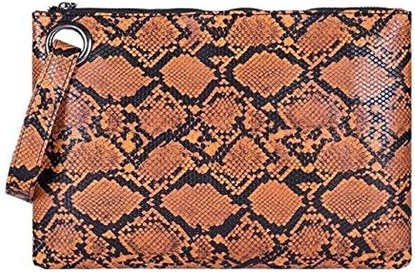 Indiana Bags Envelope Evening Clutch Bag Crocodile Pattern