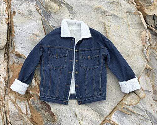 Outerwear Elegante Alla Jeans Button Jacket Con Di Puro Invernali Manica Donna Festa Cappotto Multi Moda Lunga Denim Giacca Style tasca Dunkelblau Colore Casuale Autunno Ragazze dBIqxPRw