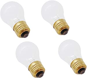 Toolsco 4PCS Reliable 40W 130V Light Bulb Part 8009 (AP3607217). Replacement Part Fits for Whirlpool, Kenmore et Refrigerators and Ranges and Designed for Extreme Temperatures condition.
