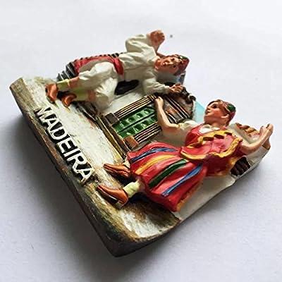 Imán para nevera con diseño de Portugal, colección de resina 3D ...