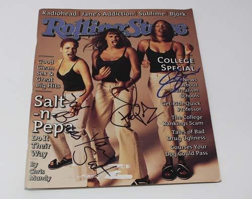 Salt-n-Pepa Very Necessary Shoop Group Signed Autographed Rolling Stone Magazine Loa