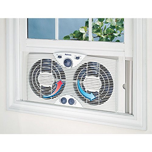 Holmes Window Fan : Holmes twin window fan with comfort control thermostat