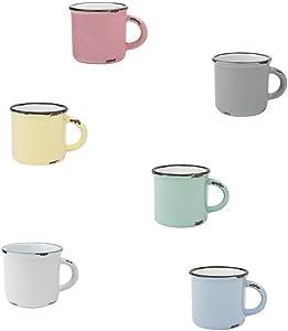 Canvas Home Tinware Espresso Mug 6-Piece Assorted Gift Set- Pack of 4