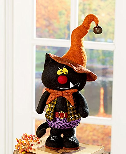 - Primitive Fall Halloween Thanksgiving Autumn Decoration Country Home Figurine Kids (cat)