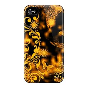 Flexible Tpu Back Case Cover For Iphone 4/4s - Abstract Nature2