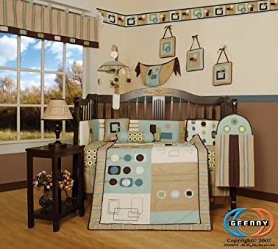 Boutique Geenny Baby Boy Artist 13pcs Crib Bedding Set by GEENNY