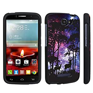DuroCase ? Alcatel OneTouch Fierce 2 7040T (2014 Released) Hard Case Black - (Space Forest)