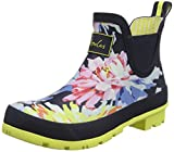 Joules Women's Wellibob Chelsea Boot Navy Whitstable Floral Rubber 9 B US