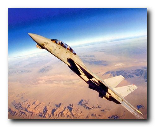 Grumman F-14 Tomcat Fighter Jet Airplane Aircraft Art Print Poster (16x20) ()