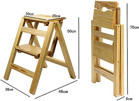 MJY Escalera plegable de 2 peldaños Escalera de doble uso Escaleras de tijera plegables Escalera de madera de pino Banco de zapatos con estante para flores,re,: Amazon.es: Bricolaje y herramientas