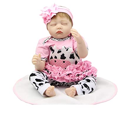 Amazon.com: XJJ Realistic Reborn Baby Doll 22 Inch Real ...