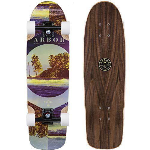 Fireball Supply Co. X Arbor Longboard Cruiser Downhill Skateboards - Various Models - Deck & Completes (Pilsner - Photo (Black Trucks), Complete) (Deck Arbor)