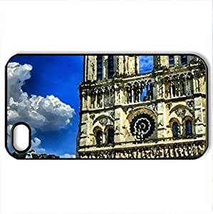 gothic cathedral hdr - Case Cover for iPhone 4 and 4s (Religious Series, Watercolor style, Black) by icecream design