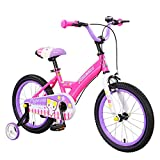 Minmin-chezi Baby Carriage, Baby Boy, Baby Carriage, 3-6 Year Old Child, Mountain Bike, Baby Carriage, Detachable Auxiliary Wheel, 14 Inch (Color : Purple)