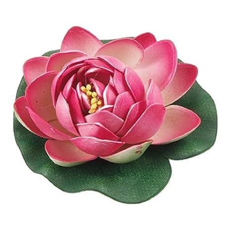 Ornamento planta jardin flotante flor de loto de Emulational para el acuario, verde / rojo: Amazon.es: Productos para mascotas