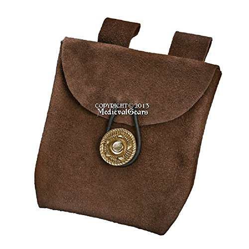 leather belt pouch medieval - 2