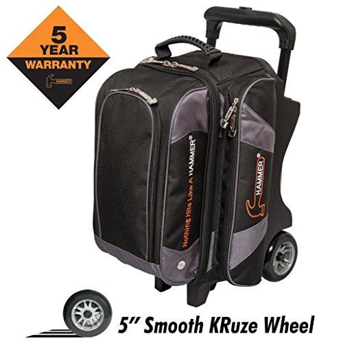 Hammer Premium Double Roller Bowling Bag, Black/Carbon (Hammer Ball Bowling Bag)