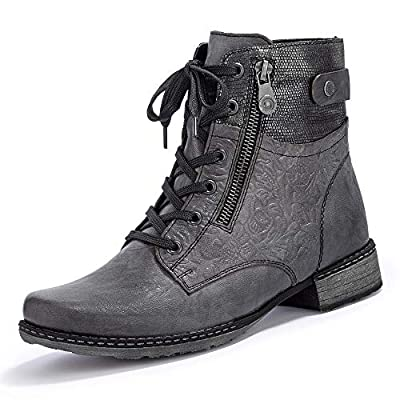 Remonte Women Ankle Boots Grey, (Smoke/Schwarz-Metall) D4379-46