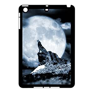 Custom Protective Hard Plastic Case with The Wolf Howl for Ipad Mini at Hushell
