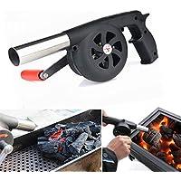 Bazaar Soplador de aire exterior barbacoa acampar de picnic barbacoa para cocinar manivela del ventilador de fuego manual