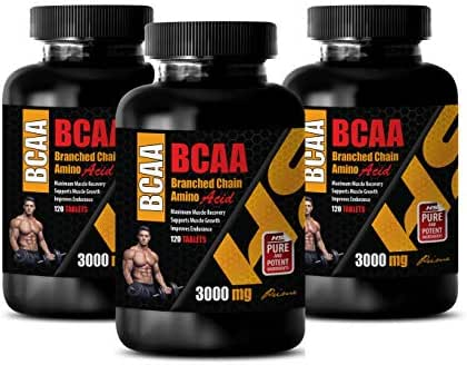 Muscle Builder Fat Burner Pill - BRANCHED Chain Amino Acid - BCAA 3000Mg - bcaa Best Seller - 3 Bottles 360 Tablets
