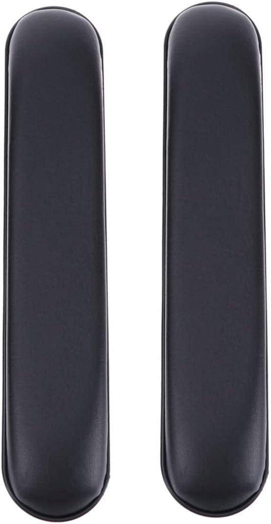 Artibetter 2 Piezas Almohadillas para Brazos de Silla de Ruedas Almohadillas para Reposabrazos de Silla de Cuero Almohadillas para Reposabrazos de Silla Cojín para Codo Almohadillas para El
