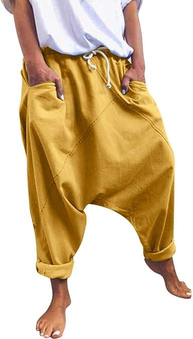 Risthy Pantalones Anchos Mujer Pantalones Tallas Grandes Baggy Aladin Bombacho Pantalones Casuales Flojos De Hip Hop Holgados Pantalones Deportivos Casual Para Mujeres Y Hombres Amazon Es Ropa Y Accesorios