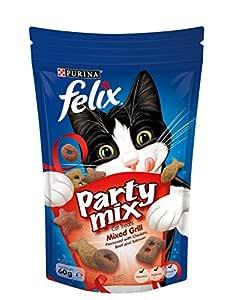 Felix Party Mix Mixed Grill Cat Treats, 60g