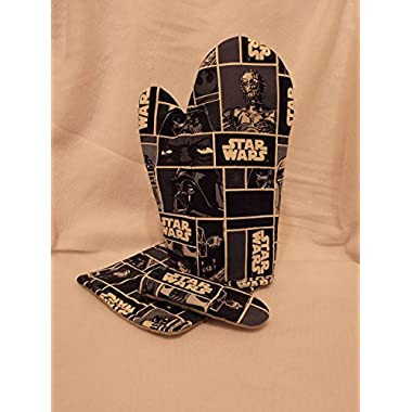 Star Wars Oven Mitt Set, 3 Piece Kitchen Set, Star Wars Oven Mitt with Potholders