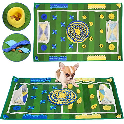 """SlowTon Dog Snuffle Mat, Feeding Mat Puppy Nose Work Blanket Training Pad Pet Toy Slow Feeder Fun to Use Non Slip Activity Mat Encourage Natural Foraging Skill Stress Release (39.3"""" x 25.5"""")"""
