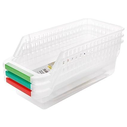 Bandejas de almacenamiento para frigorífico y congelador de cocina (3 unidades)