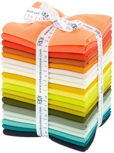 Elizabeth Hartman Kona Cotton Solids Designer Palette Series 20 Fat Quarters Robert Kaufman (Supply Office Kona)