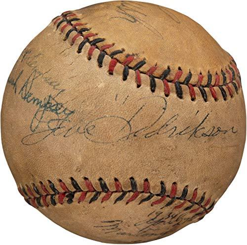 - Babe Didrikson Zaharias & Jack Dempsey Signed 1932 Baseball & JSA COA - PSA/DNA Certified - Autographed Boxing Miscellaneous Items