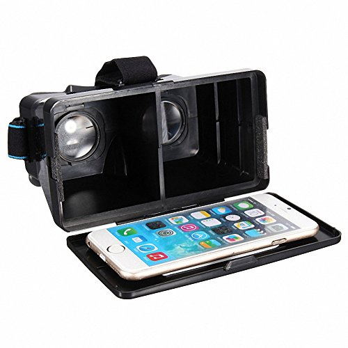 AT Portable Universal DIY 3d Vr Virtual Reality Video Movie Game Glasses with Sucking Disk for Iphone Samsung HTC Moto X Nexus Size up to 5.2 in Mobile Smartphone