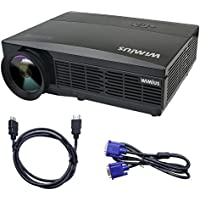 Projector, Video Projector 3300 lumens LCD Full HD Multimedia Home Theate Projectors Supports 19201080P for Home Cinema /Video Games /Movie Night
