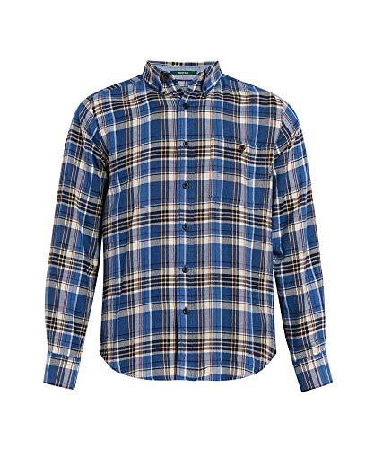 Woolrich Men's Trout Run Flannel Shirt, Alpine Blue, ()