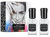 colored clear nail polish - BONTIME Top Coat - Peel Off Base Coat,Non-Toxic Fast Dry High Gloss Nail Polish,0.51 fl.oz.,Set of 2,Clear