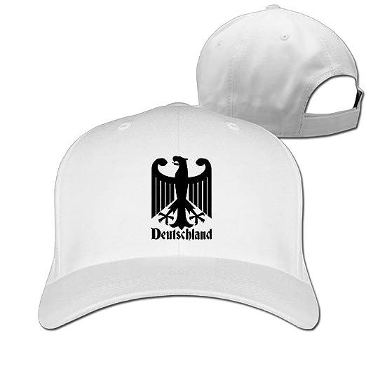 0aa4e6c3a65 YVSXO chapeau Deutschland German Unisex Hat Mens Womens Baseball Hat Hip  Hop Casquette Outdoor Sport Cap Snapback Hats White at Amazon Men s  Clothing store