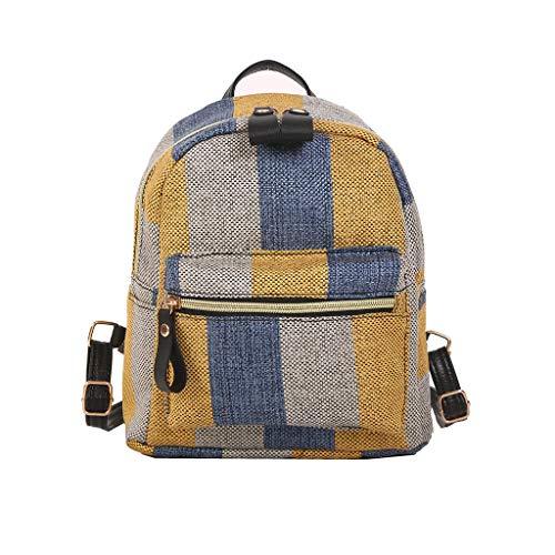 DDKK bags Spring Deals!2019 Hot Womens Mini Bucket Bag Leather Drawstring Purse Tassel Crossbody Shoulder Bag-Fashion Simple Canvas Student Bag Plaid Travel Backpack- Solid Crossbody Bag ()
