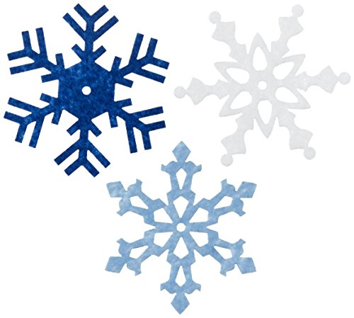 Lowest Prices! Creative Impressions Large Felt Snowflakes 2 24/Pkg, Winter