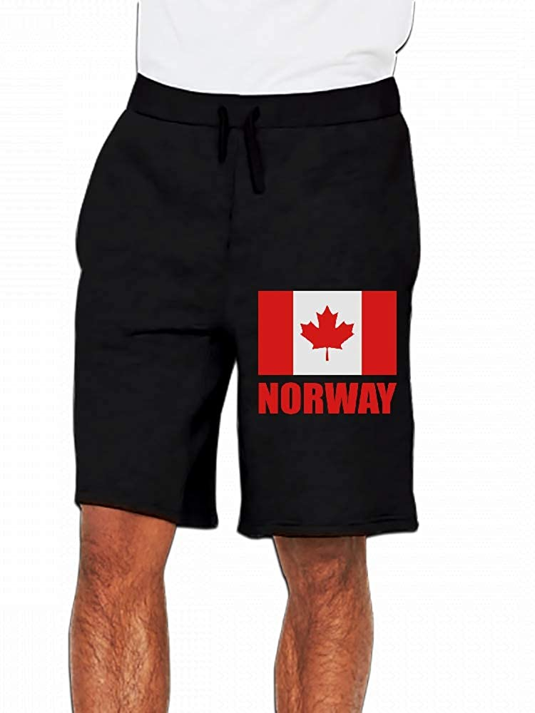 JiJingHeWang Canada Norway Mens Casual Shorts Pants